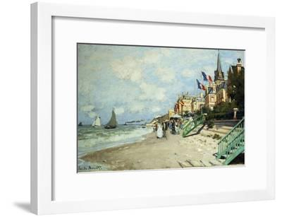 The Beach at Trouville; La Plage a Trouville, 1870-Claude Monet-Framed Giclee Print
