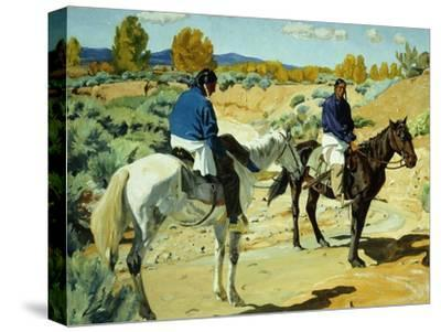 Companions-Walter Ufer-Stretched Canvas Print