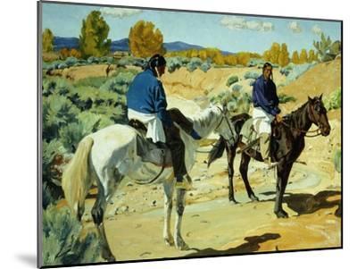 Companions-Walter Ufer-Mounted Giclee Print