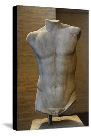 Torso of a Statue of Apollo. Roman Sculpture after Original of About 460 BC. Glyptothek. Munich--Stretched Canvas Print