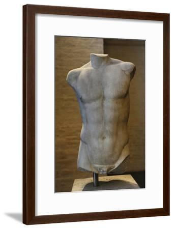 Torso of a Statue of Apollo. Roman Sculpture after Original of About 460 BC. Glyptothek. Munich--Framed Giclee Print
