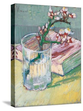 Still Life, a Flowering Almond Branch, 1888-Vincent van Gogh-Stretched Canvas Print