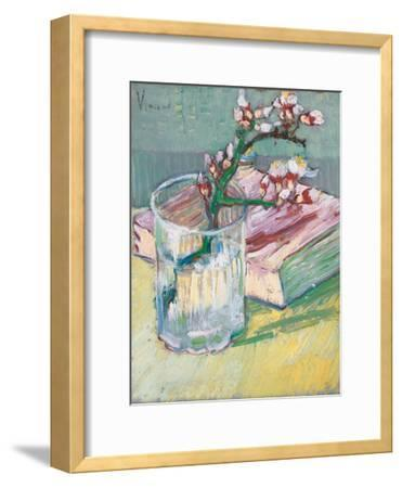 Still Life, a Flowering Almond Branch, 1888-Vincent van Gogh-Framed Giclee Print