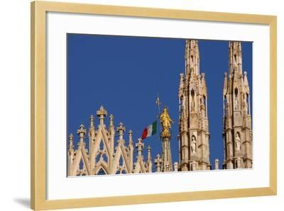 Italy. Milan Catheral. Madona Del Duomo, by Giuseppe Perego in 1774--Framed Giclee Print