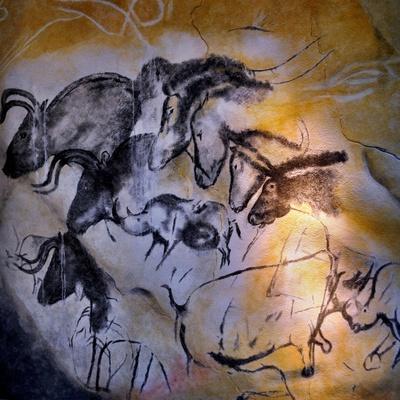 Animals and Birds, Chauvet-Pont-D'Arc Cave, Ardeche--Framed Giclee Print