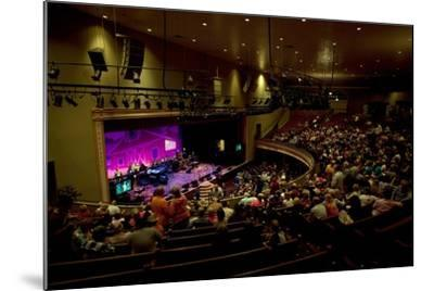 The Grand Ol Opry Night at Theryman Auditorium in Nashville Tennessee--Mounted Photographic Print