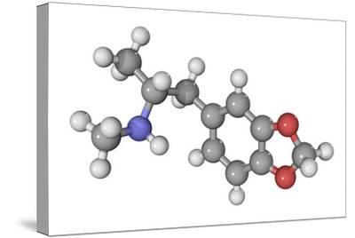 MDMA Drug Molecule-Laguna Design-Stretched Canvas Print