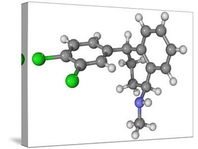 Zoloft Antidepressant Drug Molecule-Laguna Design-Stretched Canvas Print