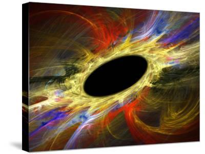 Black Hole, Artwork-Laguna Design-Stretched Canvas Print