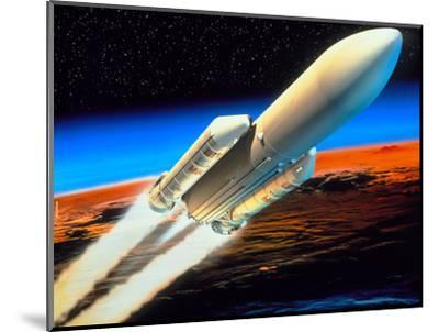 Art of Launch of Ariane 5 Rocket-David Ducros-Mounted Premium Photographic Print