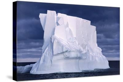 Iceberg Floating In the Ross Sea, Antarctica-Doug Allan-Stretched Canvas Print