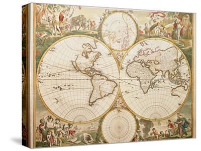 De Wit's Atlas of 1689-George Bernard-Stretched Canvas Print