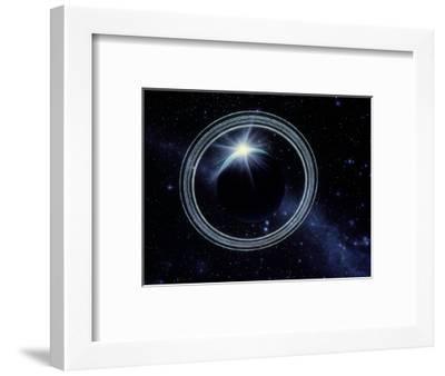 Artwork Showing Voyager 2's View of Uranus-Julian Baum-Framed Premium Photographic Print