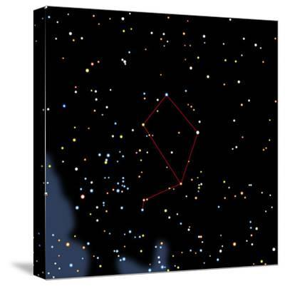 Computer Artwork of the Constellation of Libra-Julian Baum-Stretched Canvas Print