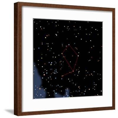 Computer Artwork of the Constellation of Libra-Julian Baum-Framed Premium Photographic Print