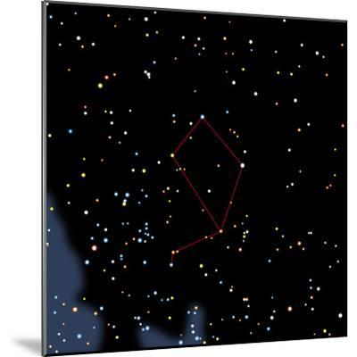 Computer Artwork of the Constellation of Libra-Julian Baum-Mounted Premium Photographic Print