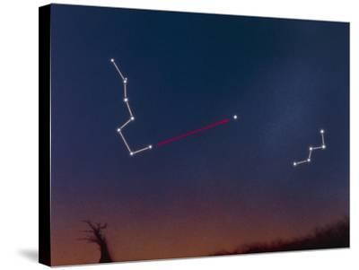 Artwork Showing How To Locate the Pole Star-Julian Baum-Stretched Canvas Print