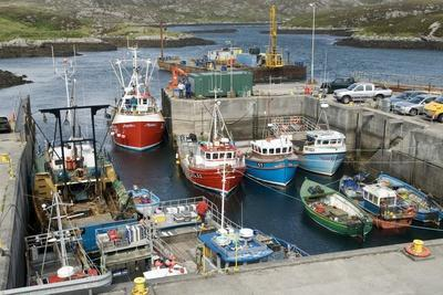 Boats In a Harbour-Adrian Bicker-Premium Photographic Print