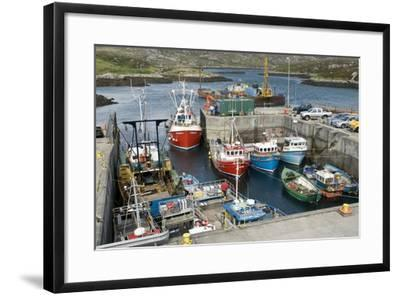 Boats In a Harbour-Adrian Bicker-Framed Premium Photographic Print