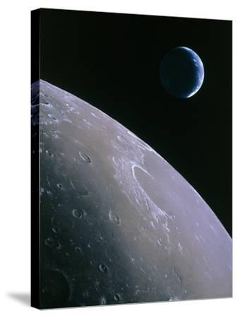 Illustration of Earthrise Seen From Lunar Orbit-Chris Butler-Stretched Canvas Print