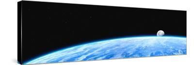 Earth And Moon-Chris Butler-Stretched Canvas Print