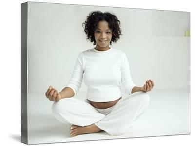 Yoga In Pregnancy-Ian Boddy-Stretched Canvas Print