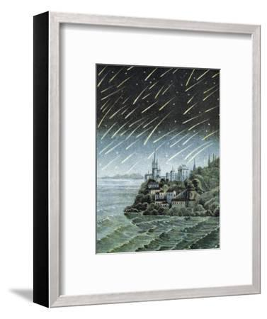 Andromedid Meteor Shower-Science, Industry and Business Library-Framed Premium Photographic Print