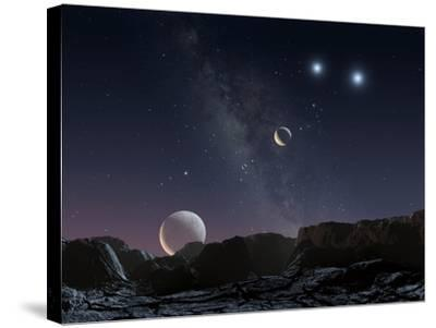 View From An Alien Planet, Artwork-Chris Butler-Stretched Canvas Print