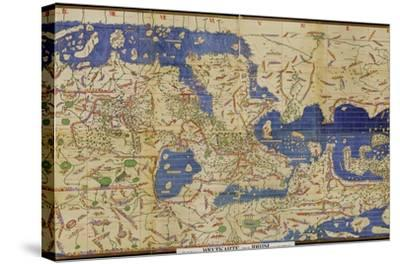 Al-Idrisi's World Map, 1154-Library of Congress-Stretched Canvas Print