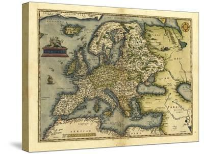 Ortelius's Map of Europe, 1570-Library of Congress-Stretched Canvas Print