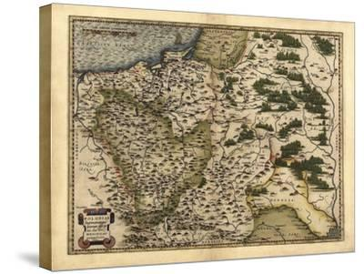 Ortelius's Map of Poland, 1570-Library of Congress-Stretched Canvas Print