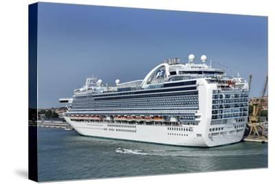 MS Ruby Princess Cruise Ship-Tony Craddock-Stretched Canvas Print