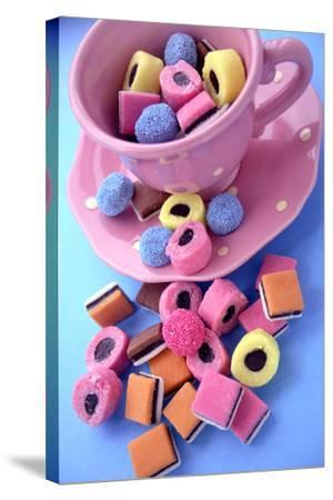 Liquorice Sweets-Erika Craddock-Stretched Canvas Print