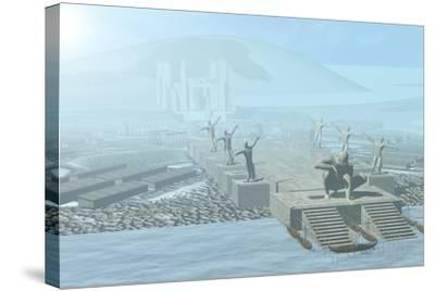 Atlantis-Christian Darkin-Stretched Canvas Print