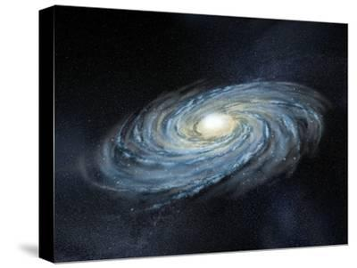 Milky Way Galaxy, Artwork-Henning Dalhoff-Stretched Canvas Print