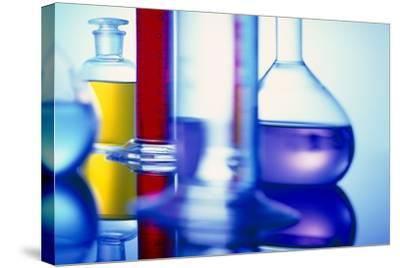 Assortment of Laboratory Glassware-Colin Cuthbert-Stretched Canvas Print
