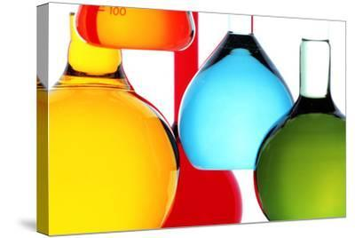 Assortment of Laboratory Glassware Flasks-Colin Cuthbert-Stretched Canvas Print