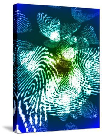 Fingerprints, Computer Artwork-Christian Darkin-Stretched Canvas Print