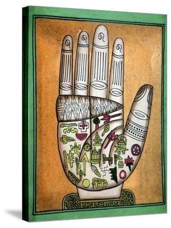 Indian Palmistry Map-Victor De Schwanberg-Stretched Canvas Print