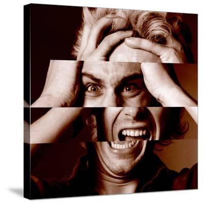 Stressed Man-Victor De Schwanberg-Stretched Canvas Print