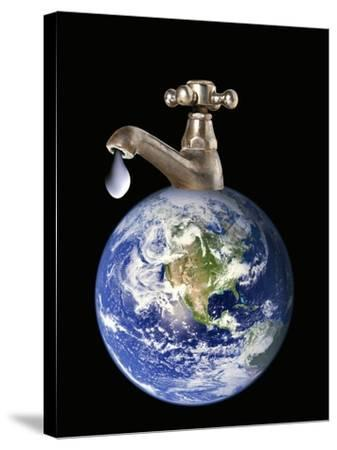 Water Conservation, Conceptual Image-Victor De Schwanberg-Stretched Canvas Print