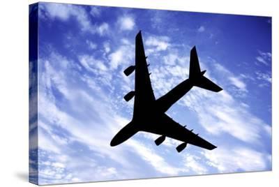 Aeroplane In Flight-Victor De Schwanberg-Stretched Canvas Print
