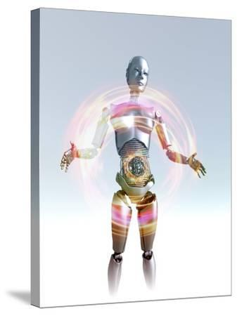 Humanoid Robot, Artwork-Victor Habbick-Stretched Canvas Print