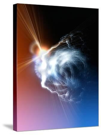 Ball Lightning, Artwork-Victor Habbick-Stretched Canvas Print