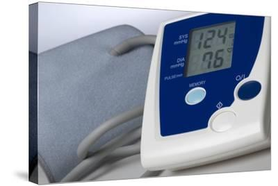 Digital Blood Pressure Monitor-Steve Horrell-Stretched Canvas Print