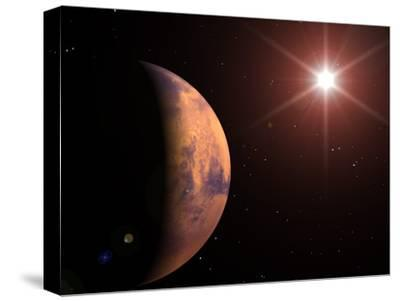 Mars-Roger Harris-Stretched Canvas Print
