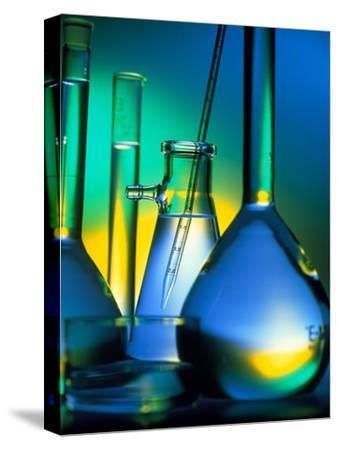 Selection of Glassware Used In Chemical Research-Tek Image-Stretched Canvas Print