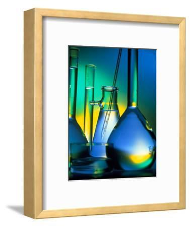 Selection of Glassware Used In Chemical Research-Tek Image-Framed Premium Photographic Print