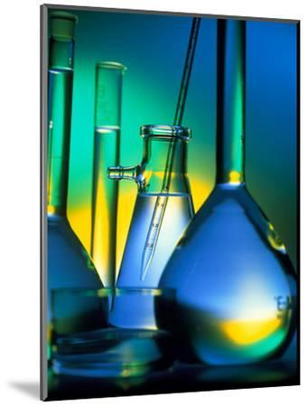 Selection of Glassware Used In Chemical Research-Tek Image-Mounted Premium Photographic Print