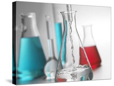 Laboratory Glassware-Tek Image-Stretched Canvas Print